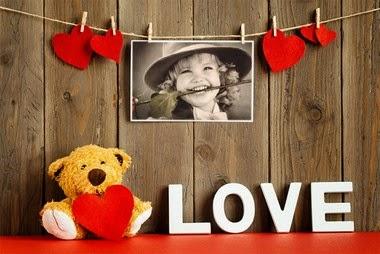 fotomontaje oso con corazón