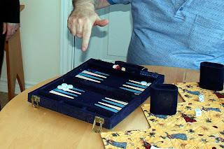 Freddy was the King of backgammon and, of course, crokinole!