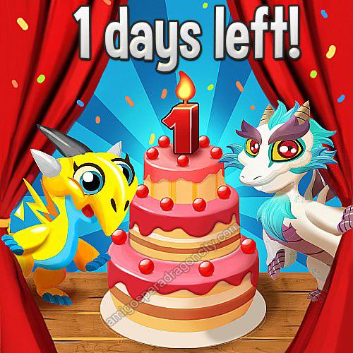 el cumpleaños de Dragon City y gana un increíble paquete de gemas