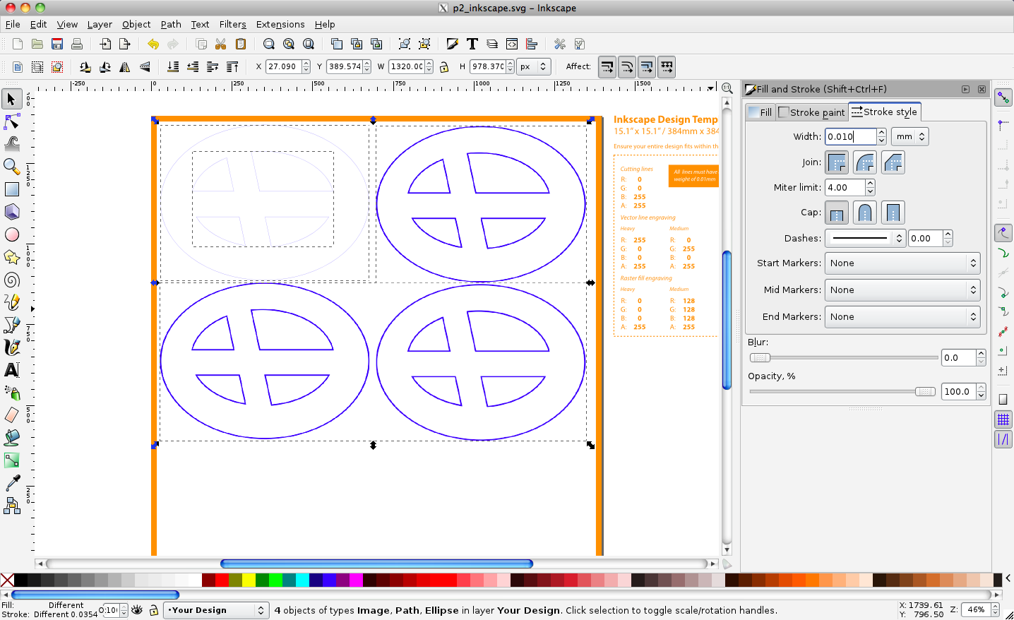 Designing laser cut things with inkscape jnl i made one coaster somehow managing to use ellipse and rectangle tools to create the linework and used the path difference tool correctly on the first ccuart Image collections