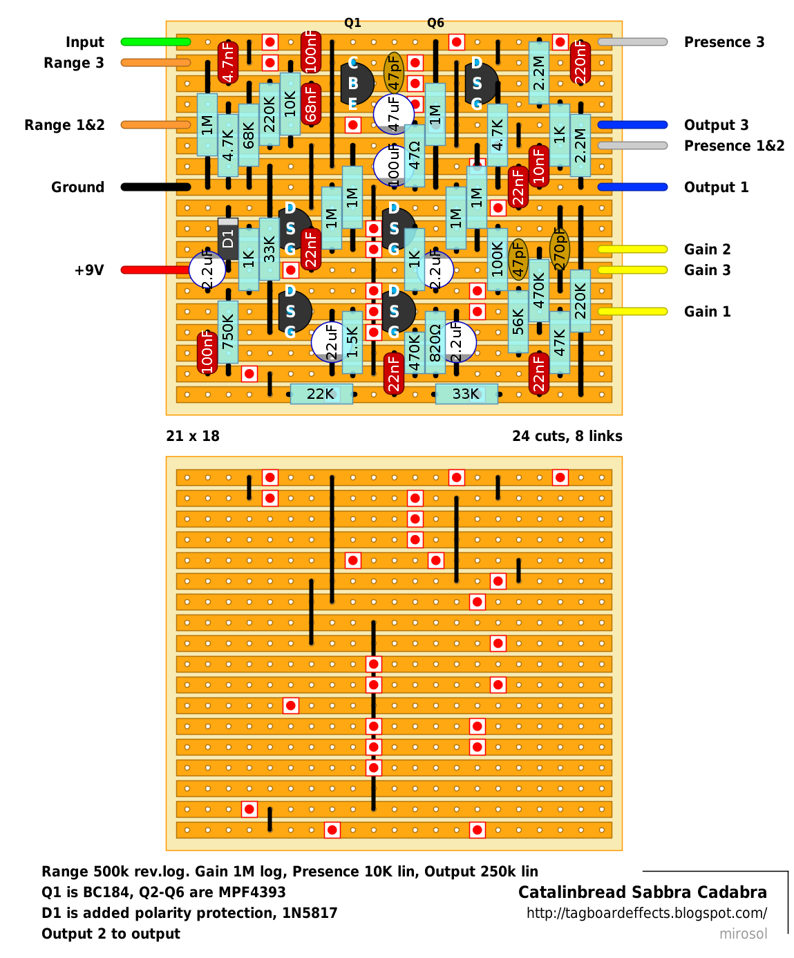 guitar fx layouts catalinb sabbra cadabra update 22 3 2015 there were couple minor issues the schematic both fixed for this version of the layout