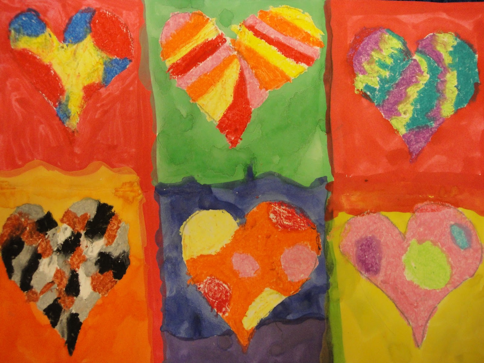 Keep It Memorable Art: 3rd Grade Jim Dine Color Family Hearts