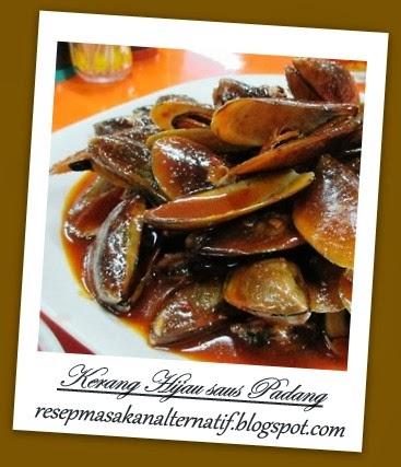 Resep Masakan dan Cara Membuat Kerang Hijau Saus Padang