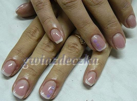 paznokcie ślubne french