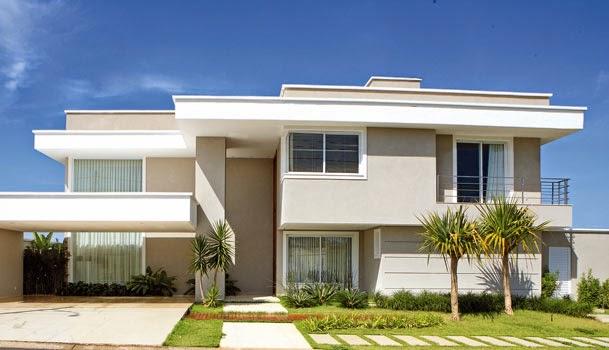 Toque de arte fachadas de casas modernas com telhado for Fotos de casas modernas com telhado aparente