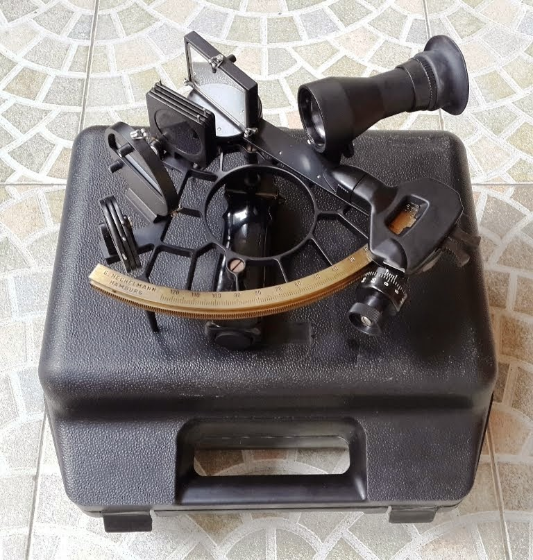Vintage Marine Sextant G. HECHELMANN HAMBURG 34064 made in west Germany