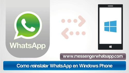 Como reinstalar WhatsApp en Windows Phone