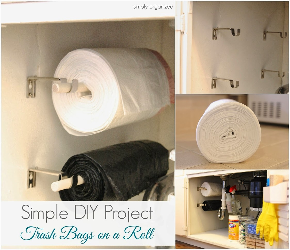 Easy DIY - Trash Bags on a Roll