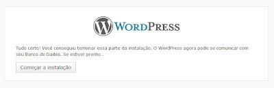 Blog wordpress começar instalação