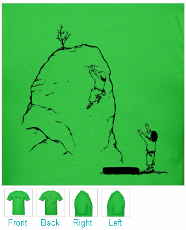 Highball Bouldering T-shirt - Climber and Spotter