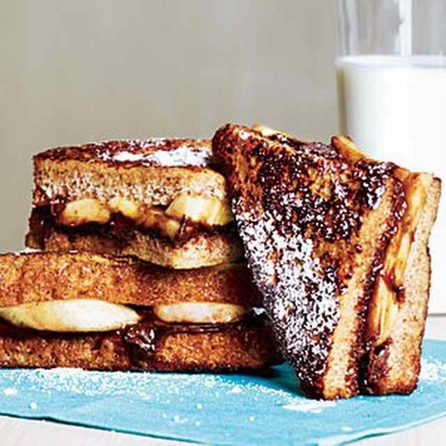 Healthy Recipes Banana and Chocolate French Toast Yield