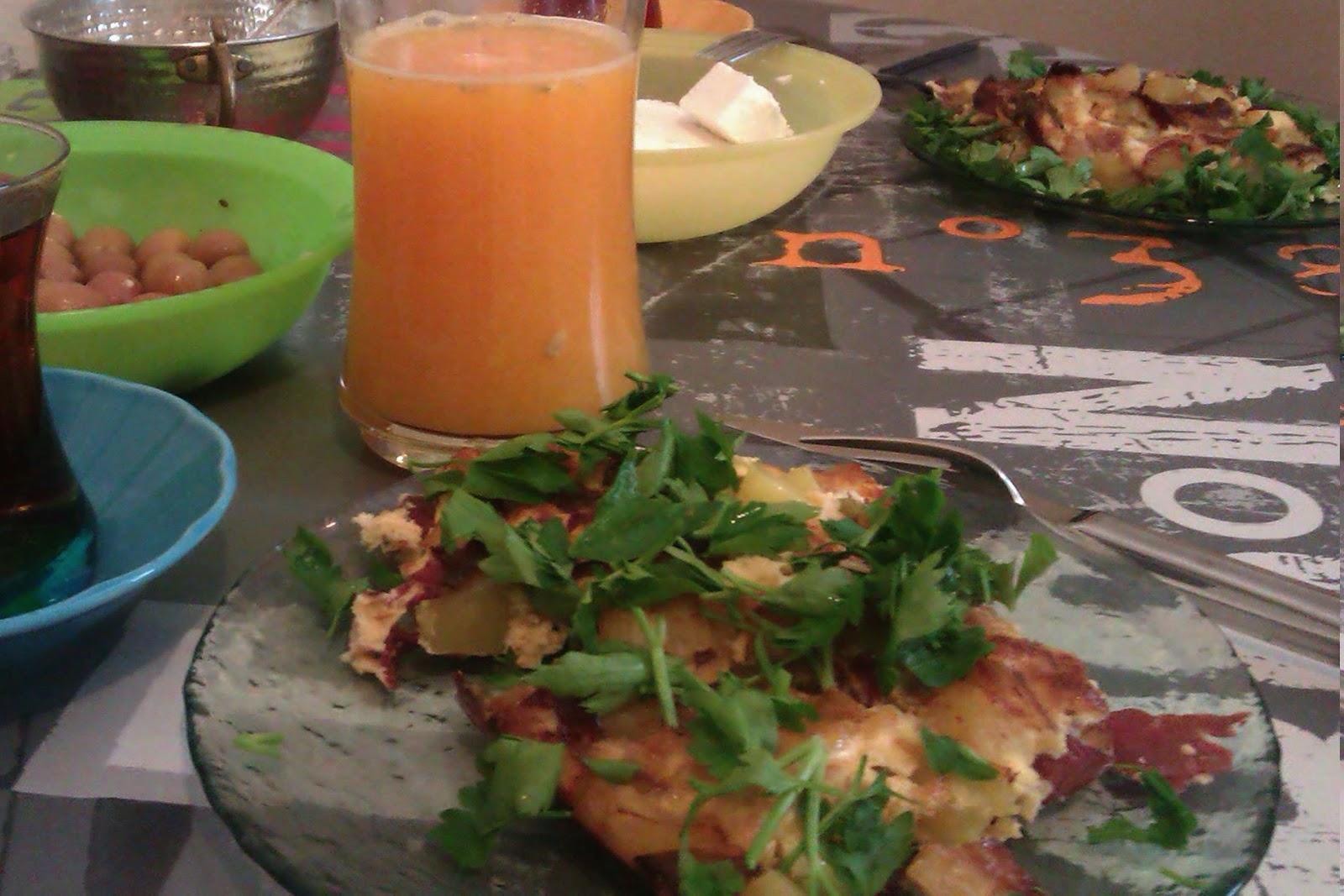kurutulmuş etli omlet 4