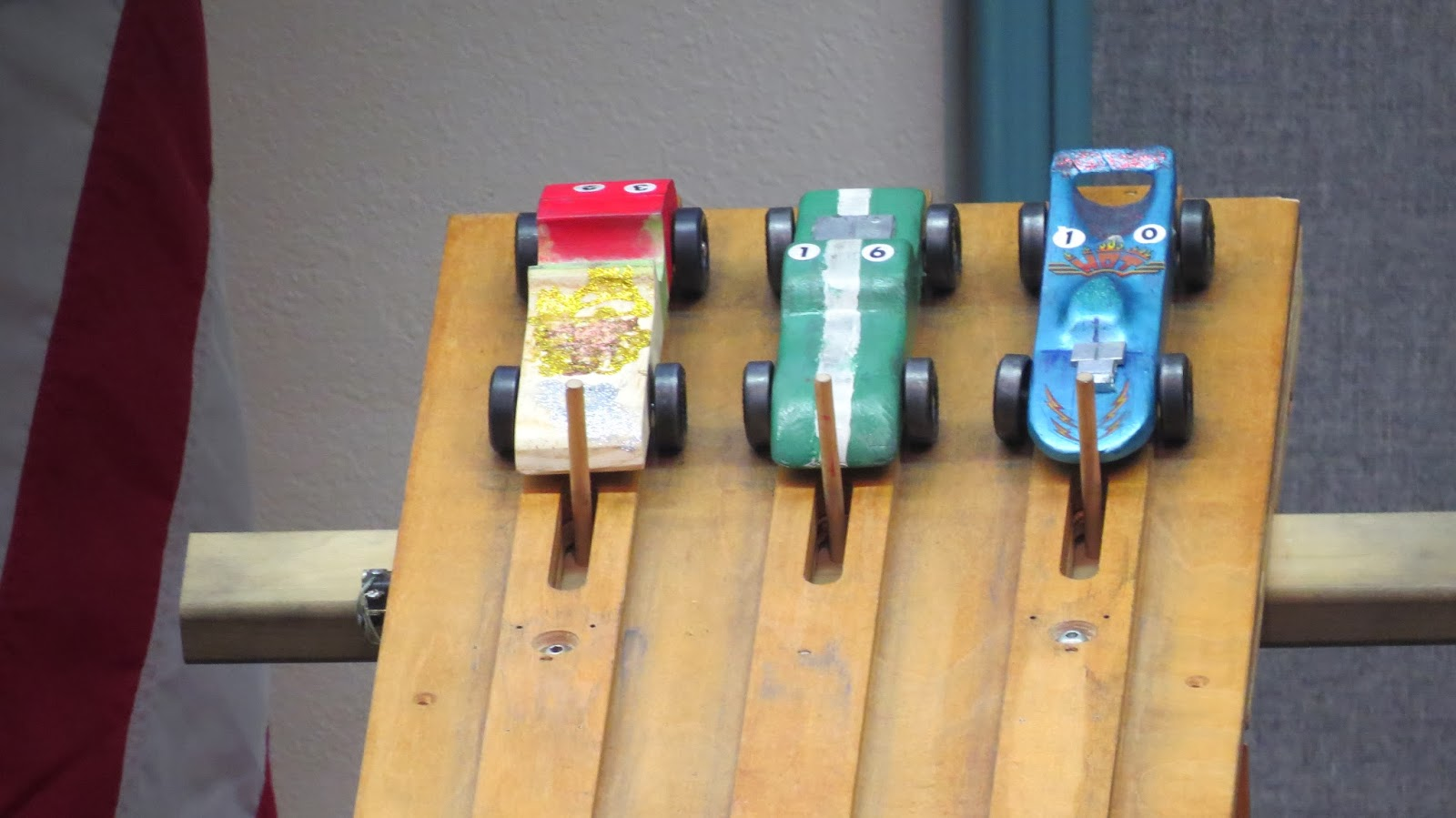 pinewood derby at the top