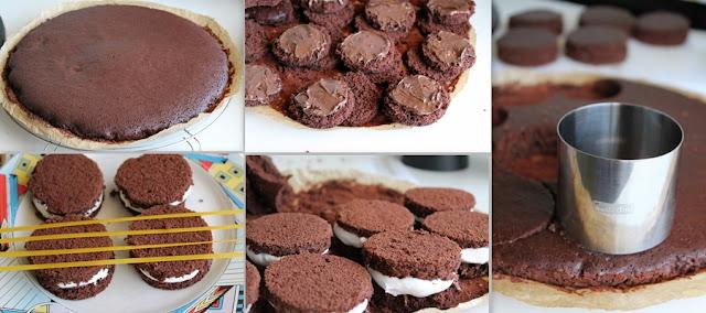 medaglioni al cacao con panna e nutella (anche senza glutine)