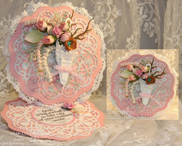 Our Daily Bread Designs, God Quotes, Doily, Umbrella, Shabby Rose, Designed by Robin Clendenning