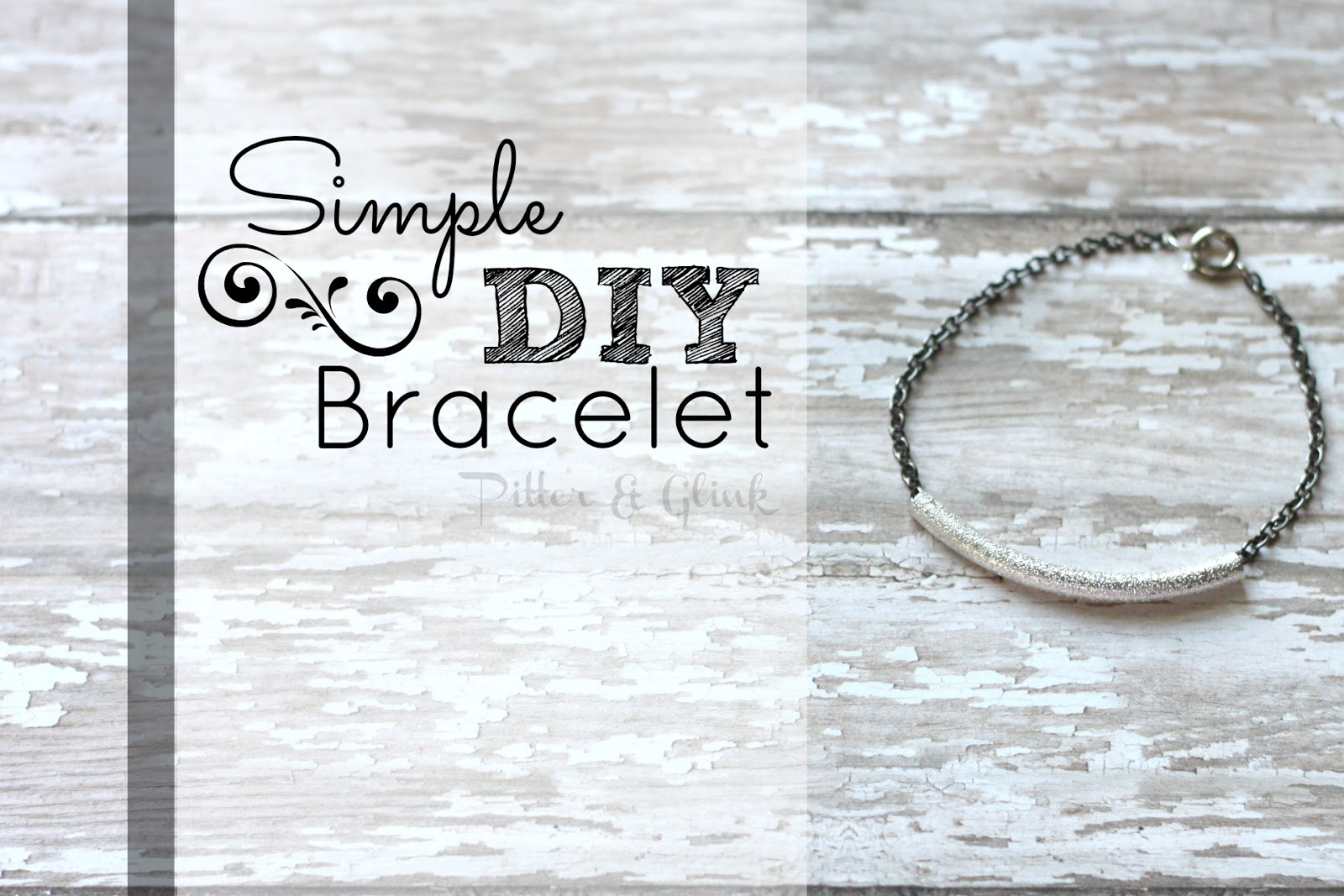 Simple DIY Bracelet pitterandglink.com