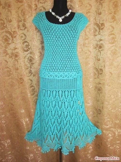 Вязание крючком платье страна мам