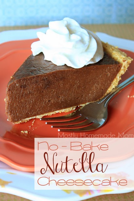 No Bake Nutella Cheesecake | Mostly Homemade Mom