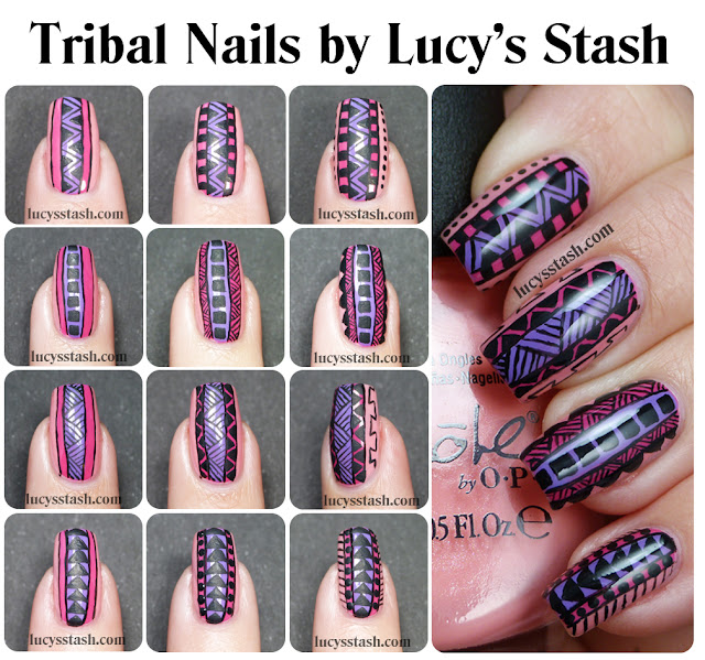 Lucy's Stash - Tribal Print Nail Art Tutorial