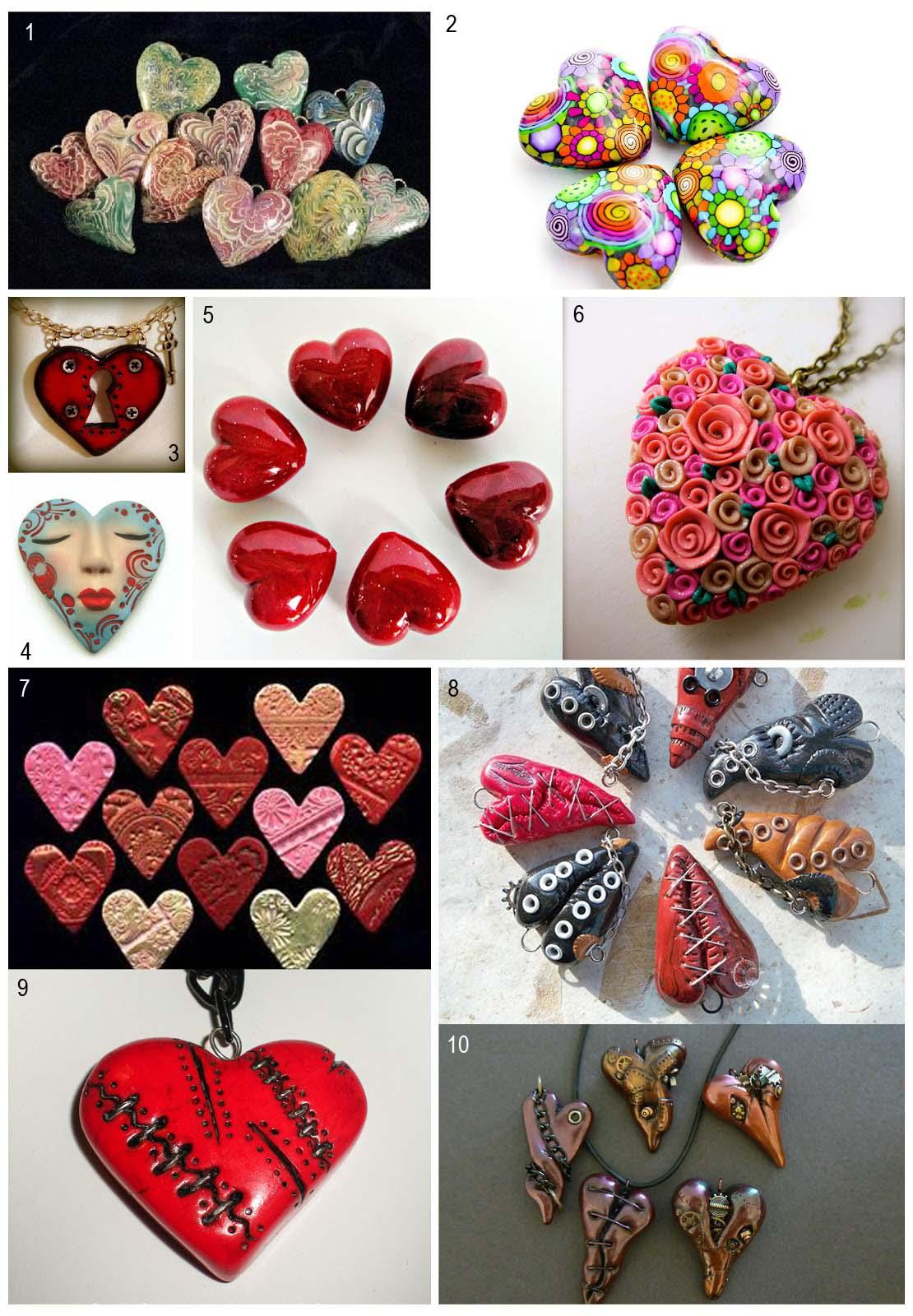 Polymer Clay Polyzine Be My Valentine
