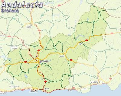 Granada Andalucía mapa de la ciudad
