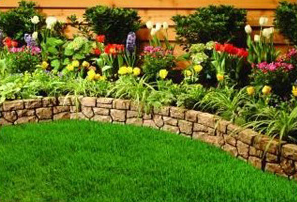 Edging design ideas flower bed edging ideas for Flower bed designs