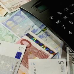 billets en euros avec calculatrice