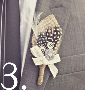love the wheat in this boutonniere for a November wedding! And