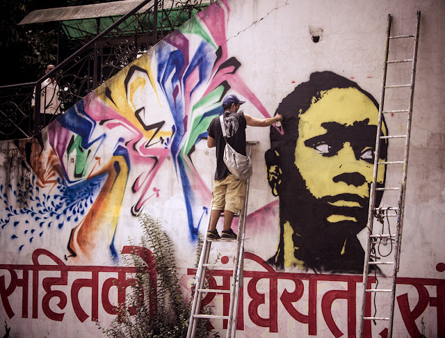street art by stinkfish in nepal 4