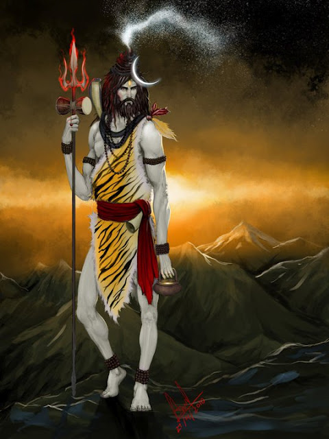 Lord Shiva Ganga at Head