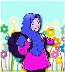 Gambar kartun anak perempuan shaleh muslimah
