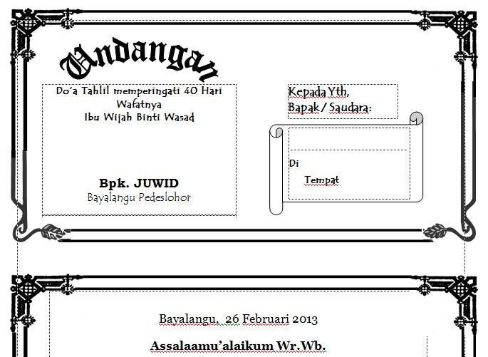 contoh undangan pernikahan minimalis