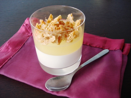 Db mascarpone panna cotta topped with lemon jelly and florentine crumble kitchen heals soul - Panna cotta mascarpone ...