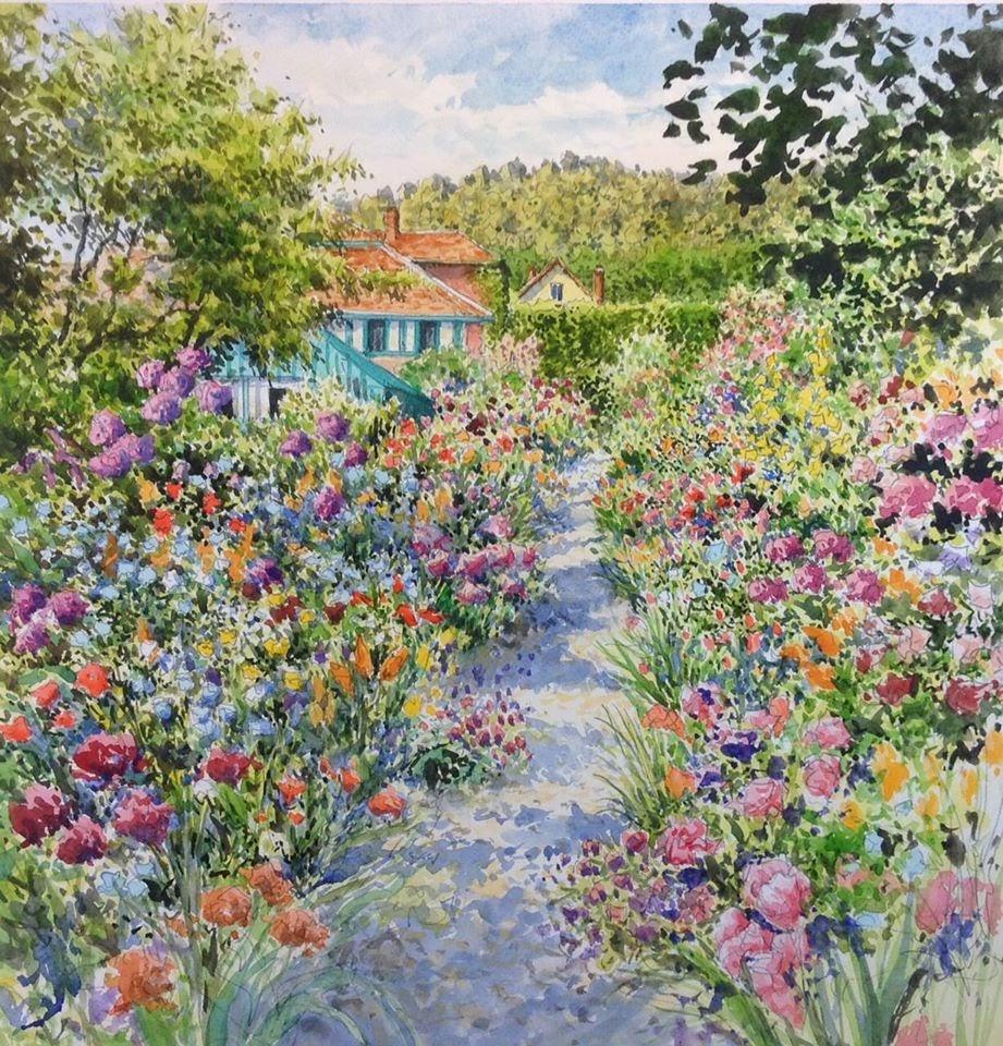 Jean Charles Decoudun Jardin du c C Al C Abre peintre Monet