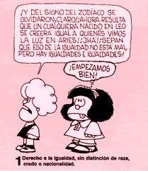 Los signos del Zodiaco y la igualdad. Mafalda