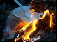 burning garbage