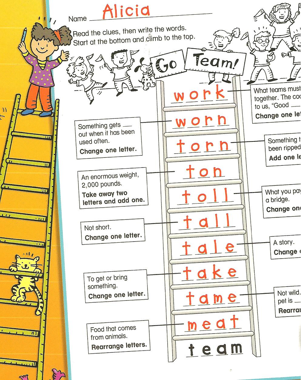 Worksheets Word Ladder Worksheets multisensory monday word ladders ladder learning services llc are great puzzles that engage your students phonemic awareness decoding and encoding skills