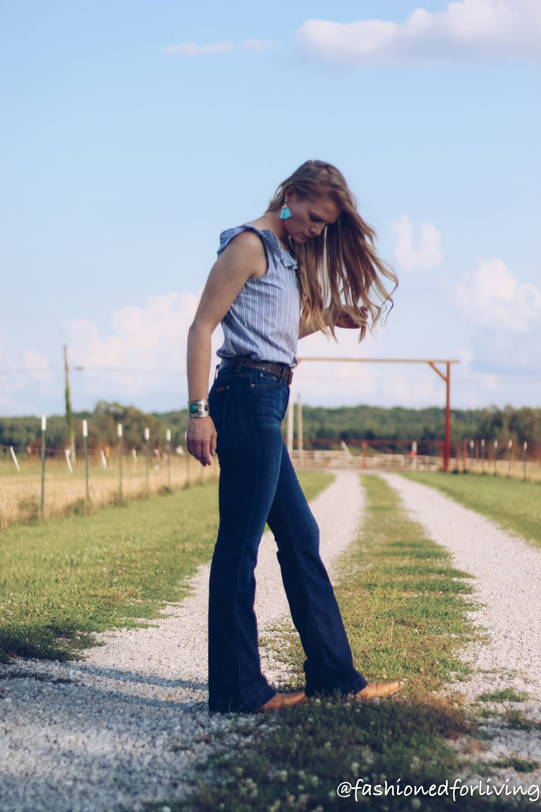 Fashioned For Living Cowgirl Boots Outfit With Flare