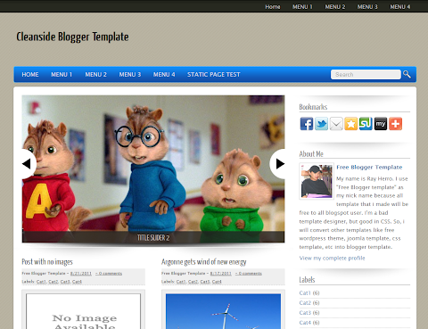 Cleanside Blogger Theme