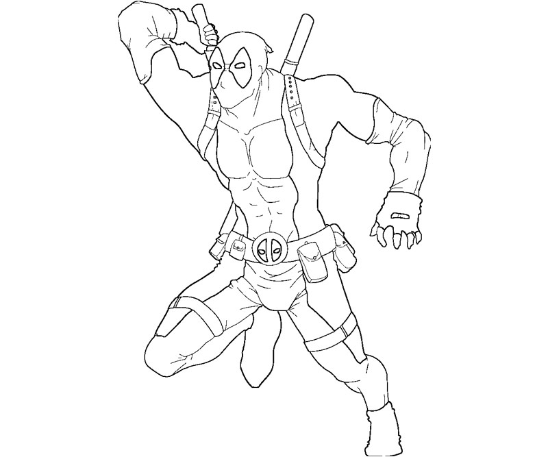 free baby deadpool coloring pages