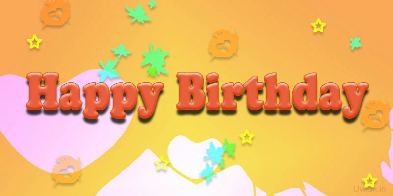 Birthday greetings and wishes with Colorful background