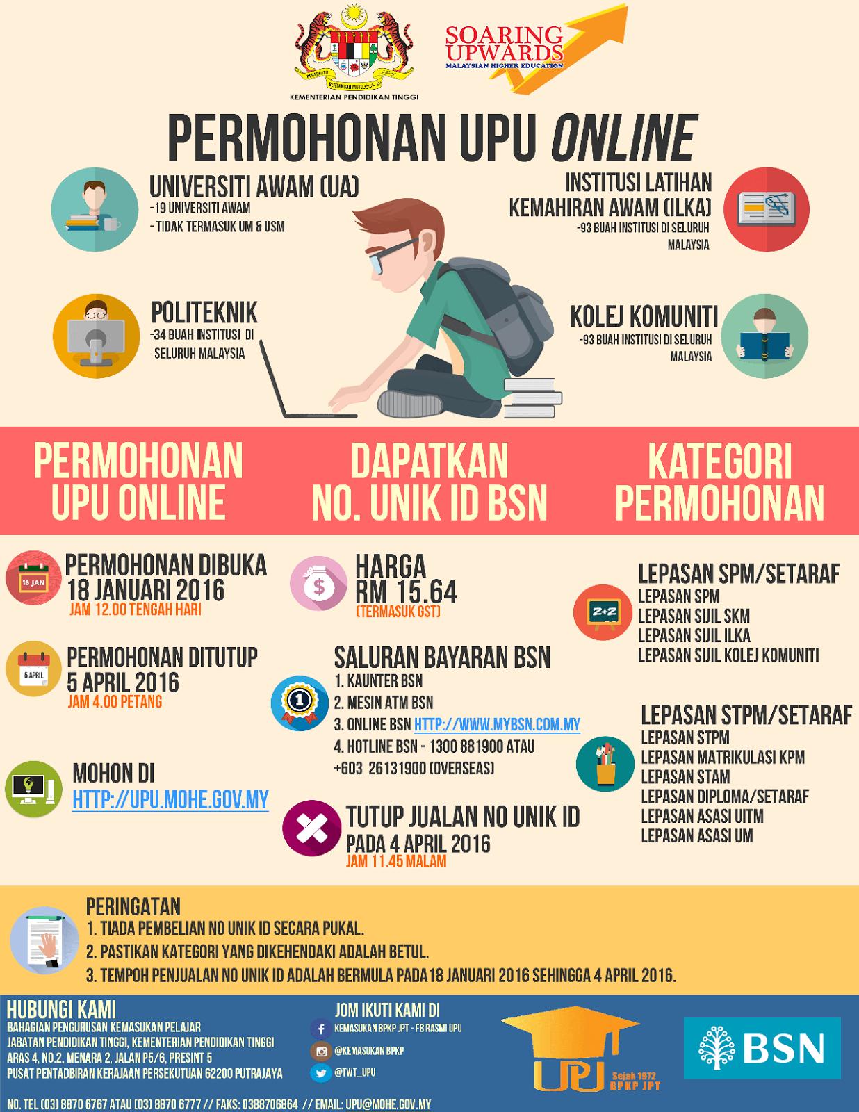 Info Permohonan UPU Online