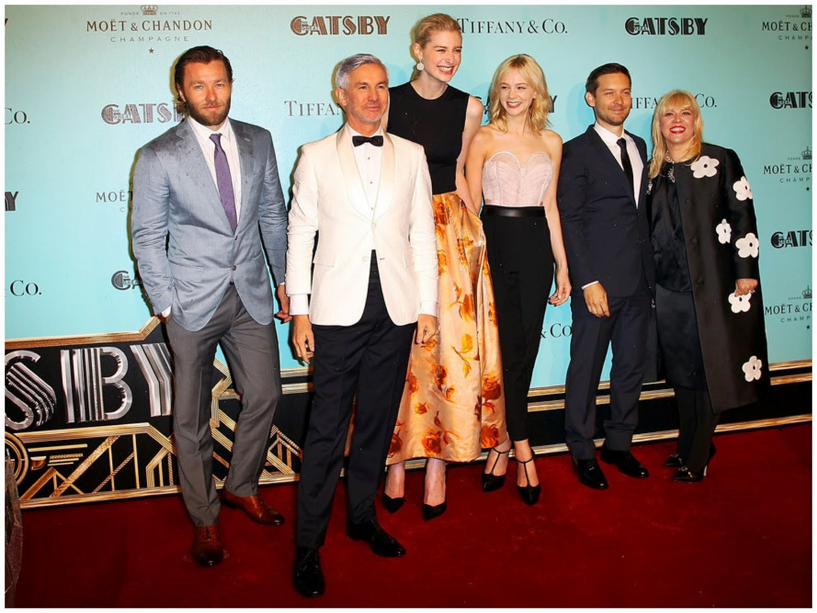 00O00 Menswear Blog: Baz Luhrmann in Black Fleece Brooks Brothers WHITE SHAWL COLLAR TUXEDO JACKET - 'Great Gatsby' Australia Premiere May 2013