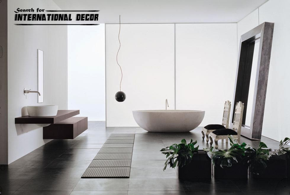 Fashionable style of modern bathroom interior design for Modern style bathroom designs