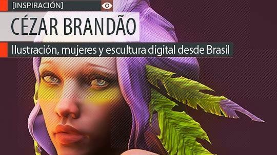 Ilustración y escultura digital de CÉZAR BRANDÃO