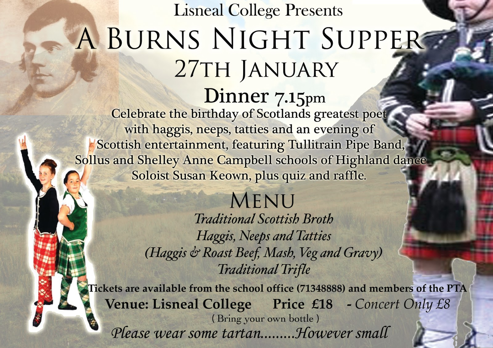 burns+night+poster2 Top Result 60 Luxury Burns Night Menu Template