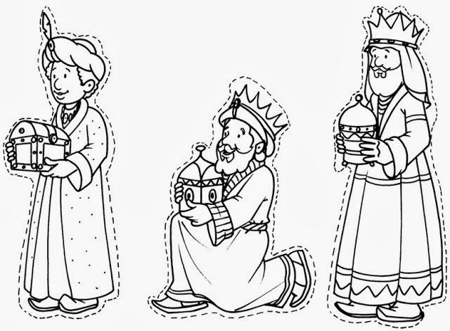 Dibujos de los reyes magos para colorear | Manualidades Fáciles