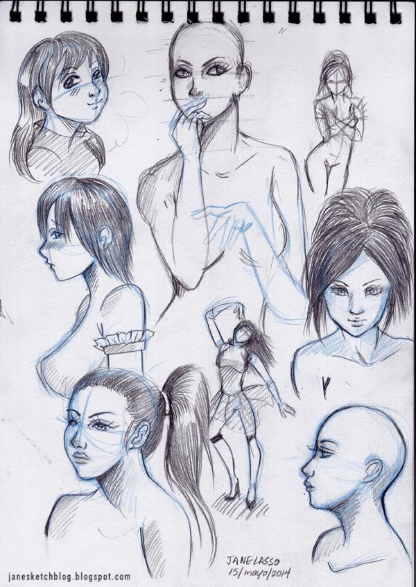 Dibujos de rostros a lápiz