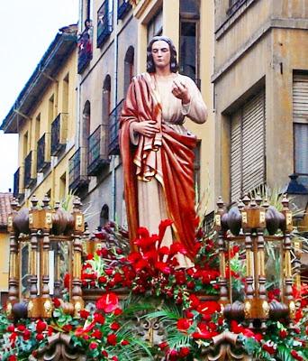 Paso de San Juan. Cofradía del Dulce Nombre de Jesús Nazareno. León. Foto G. Márquez