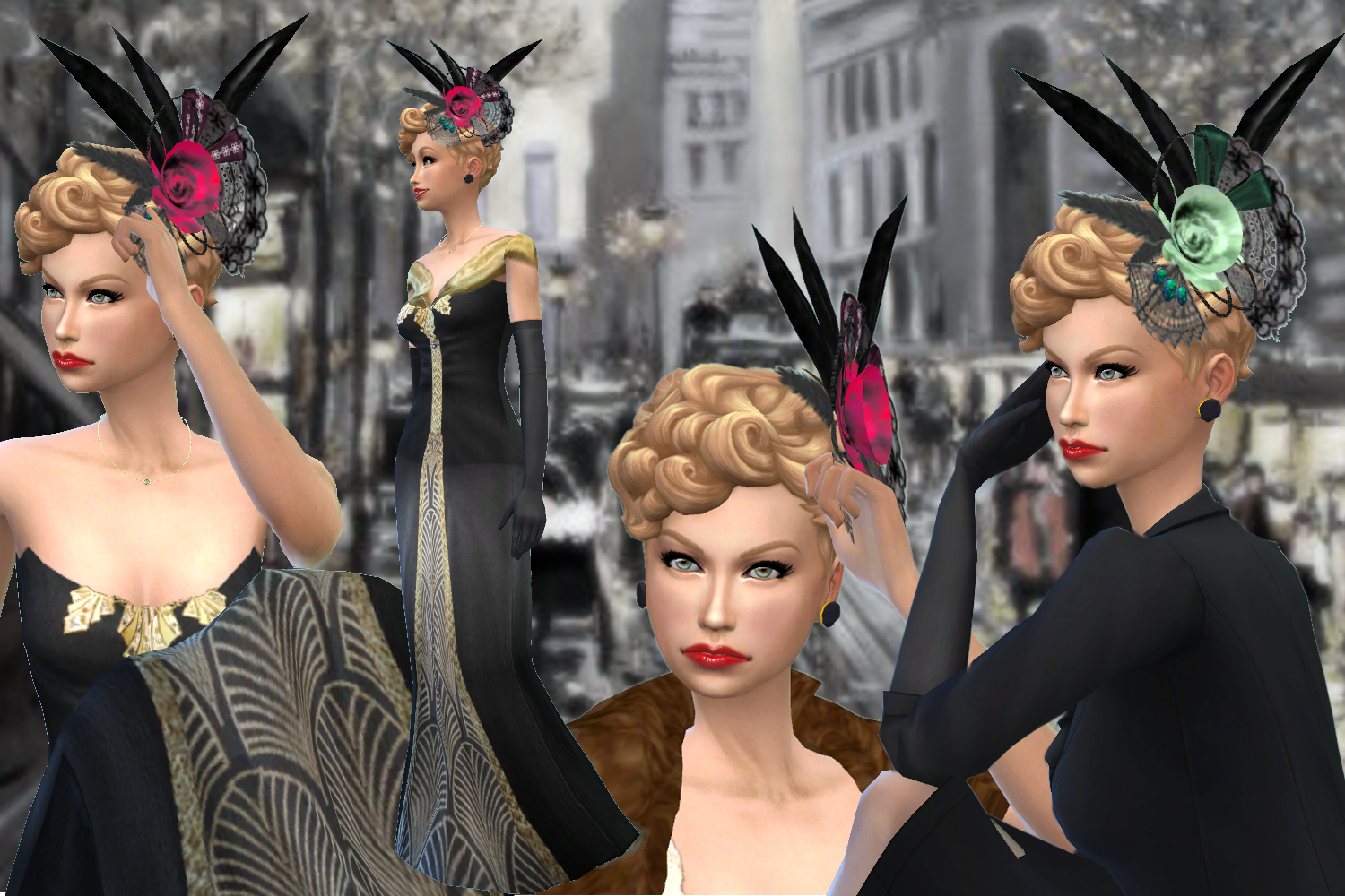 The sims 4 hair accessories - Here Is A Fascinator A Angled Tiny Hat Popular In The Early 1900s Perfect For An Edwardian Or Belle Epoch Look